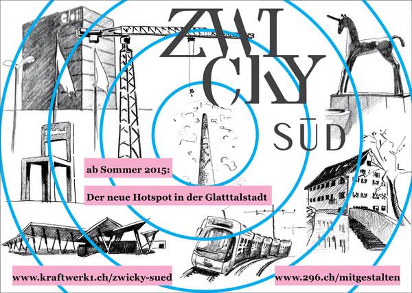 Einladung zur  Begehung des renaturierten Chriesbachs und der Kraftwerk1 Zwicky Süd-Baustelle