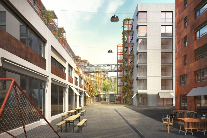 Sechste Kraftwerk1 Konferenz Zwicky Süd – Alles Fassade: Beton, Rost und Maschendraht